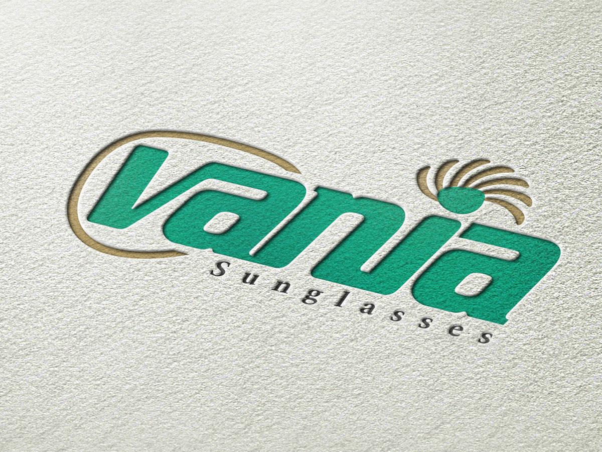 طراحی لوگو عینک آفتابی وانیا