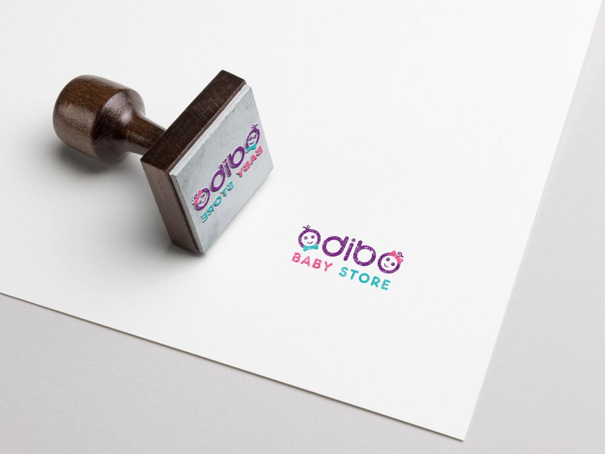 طراحی لوگو فروشگاه اینترنتی لباس کودک ادیبو