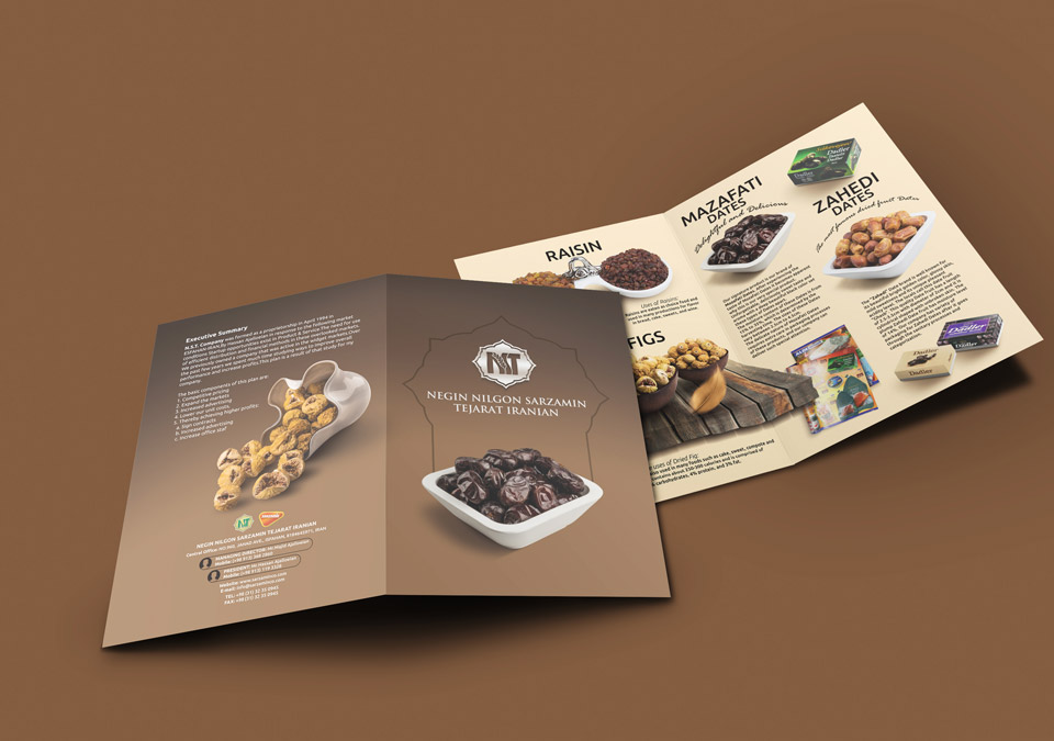 طراحی کاتالوگ گروه مواد غذایی
